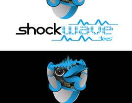 nº 141 pour Logo Design for T-Shirt Company.  ShockWave Tees par xcerlow