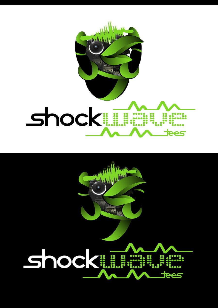 #138 for Logo Design for T-Shirt Company.  ShockWave Tees by xcerlow