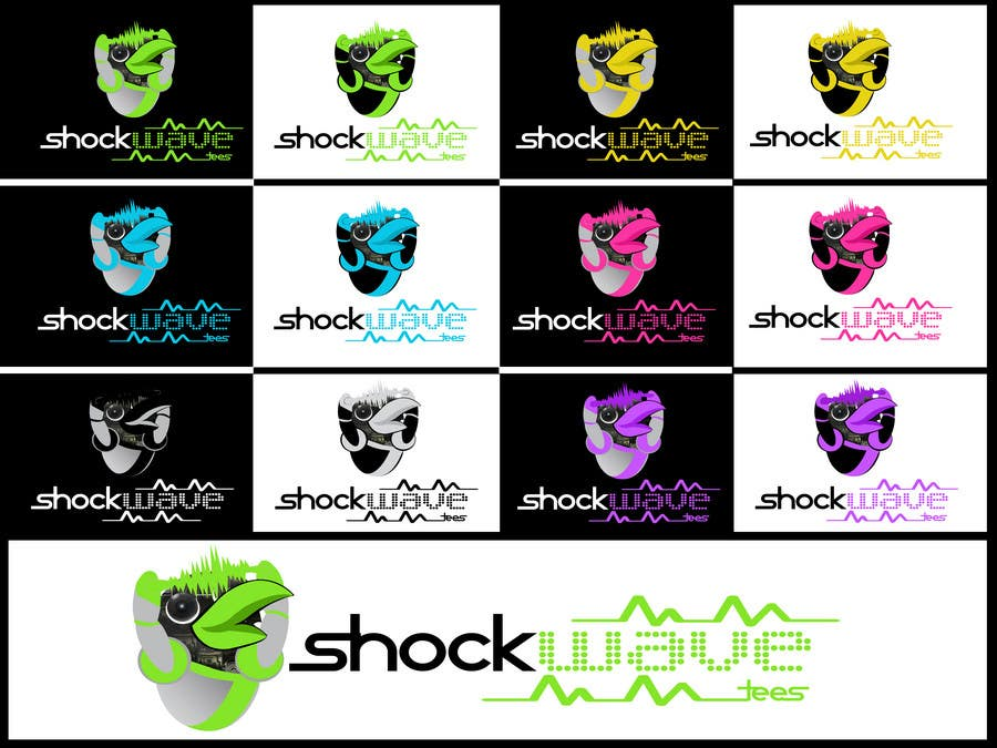 #160 for Logo Design for T-Shirt Company.  ShockWave Tees by xcerlow
