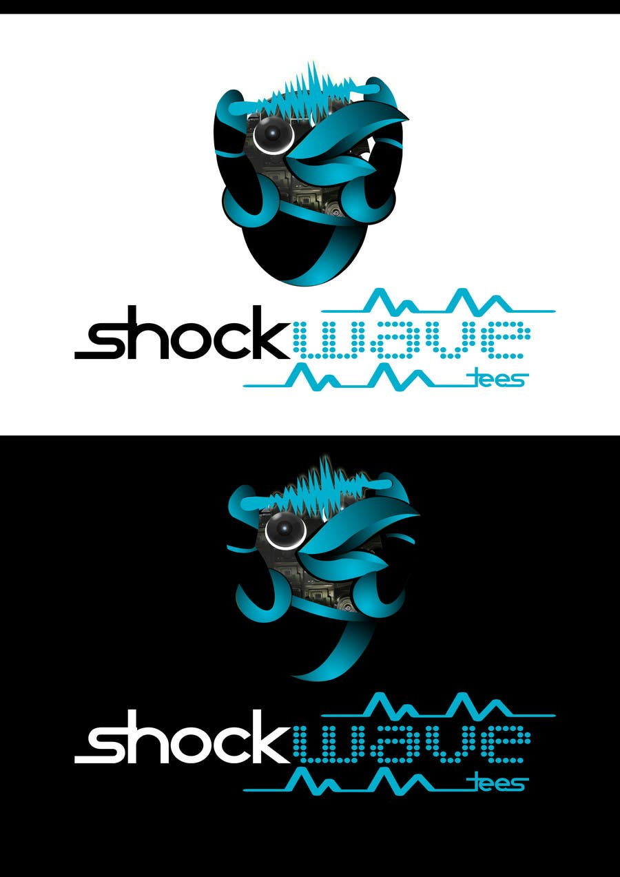 Inscrição nº                                         137                                      do Concurso para                                         Logo Design for T-Shirt Company.  ShockWave Tees