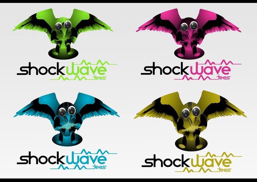 Inscrição nº                                         128                                      do Concurso para                                         Logo Design for T-Shirt Company.  ShockWave Tees