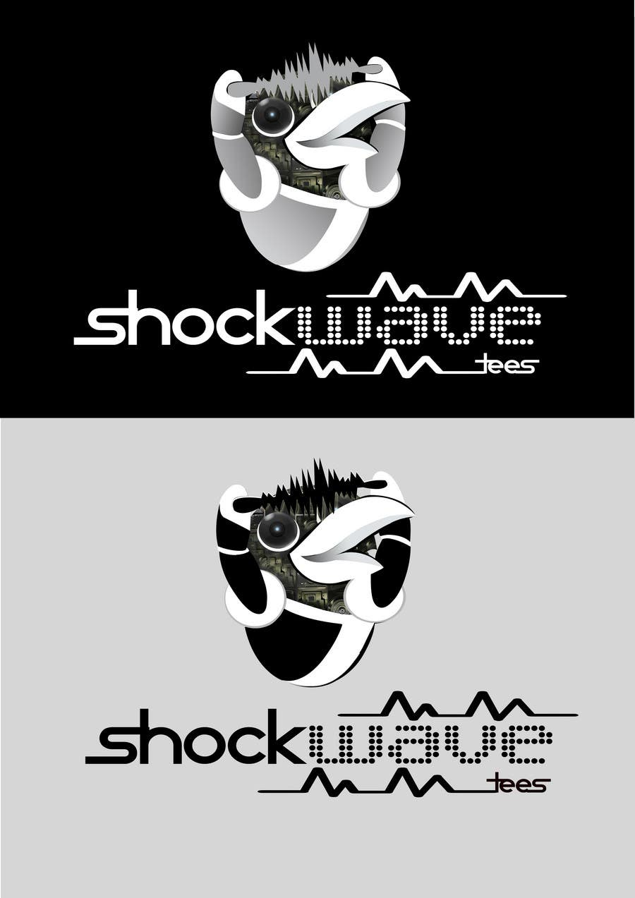 #142 for Logo Design for T-Shirt Company.  ShockWave Tees by xcerlow
