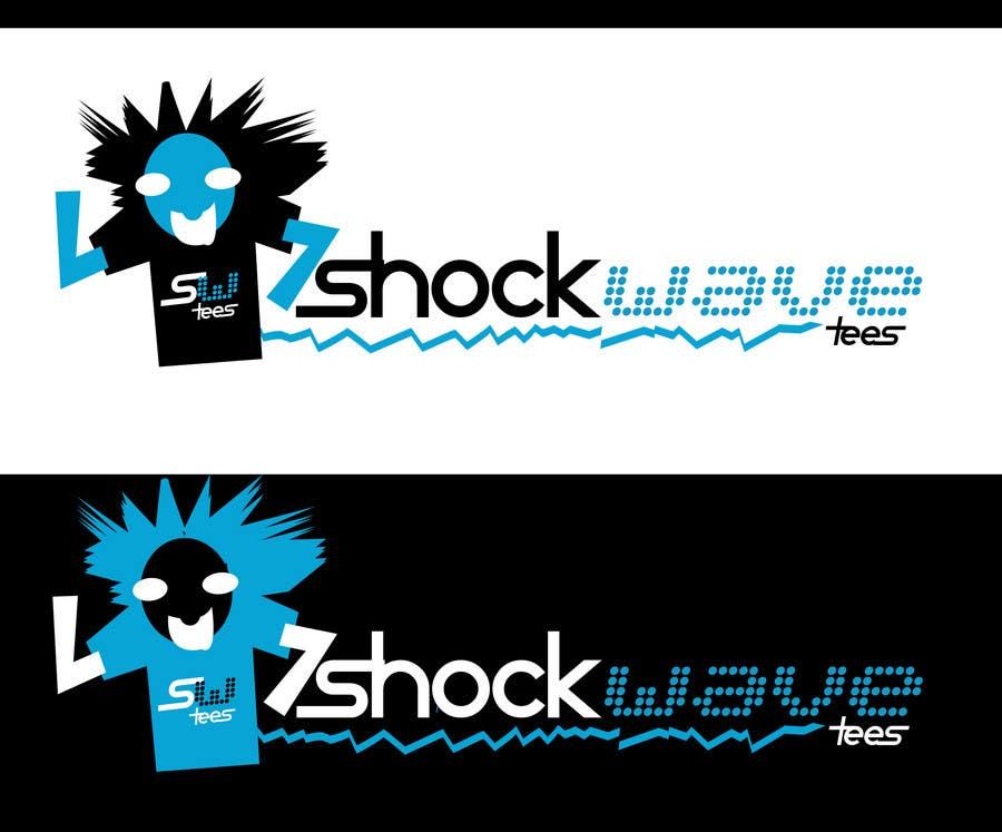 Inscrição nº                                         73                                      do Concurso para                                         Logo Design for T-Shirt Company.  ShockWave Tees