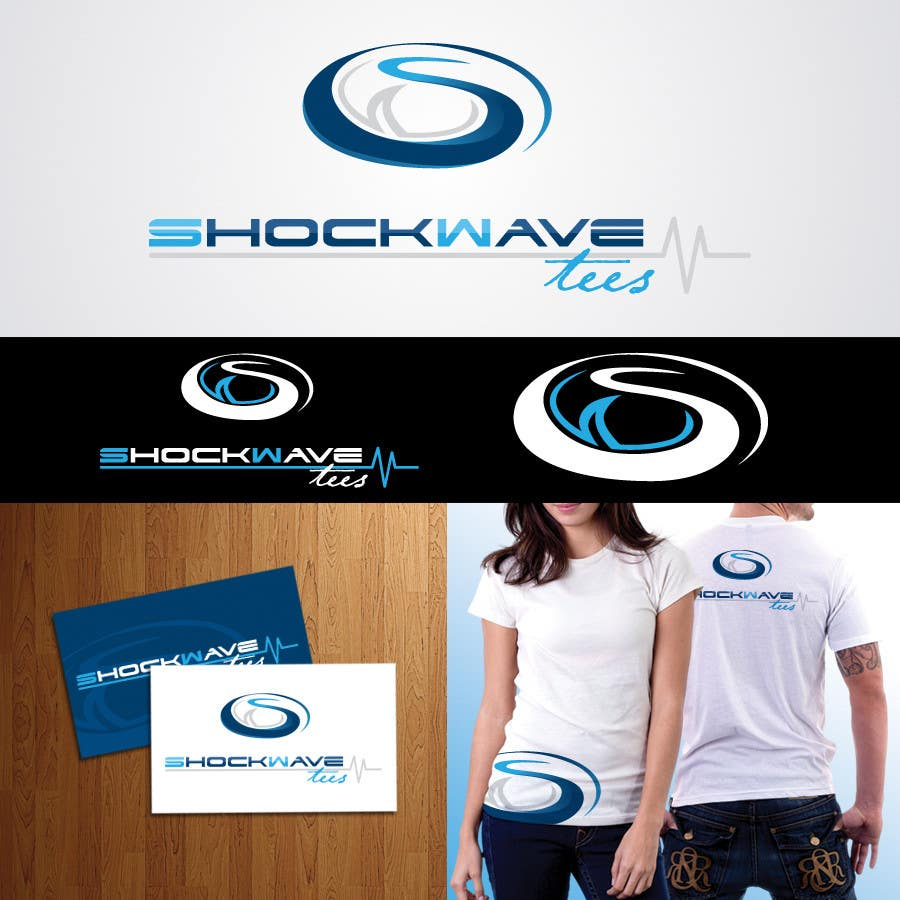 #43 for Logo Design for T-Shirt Company.  ShockWave Tees by AcidicSubstance