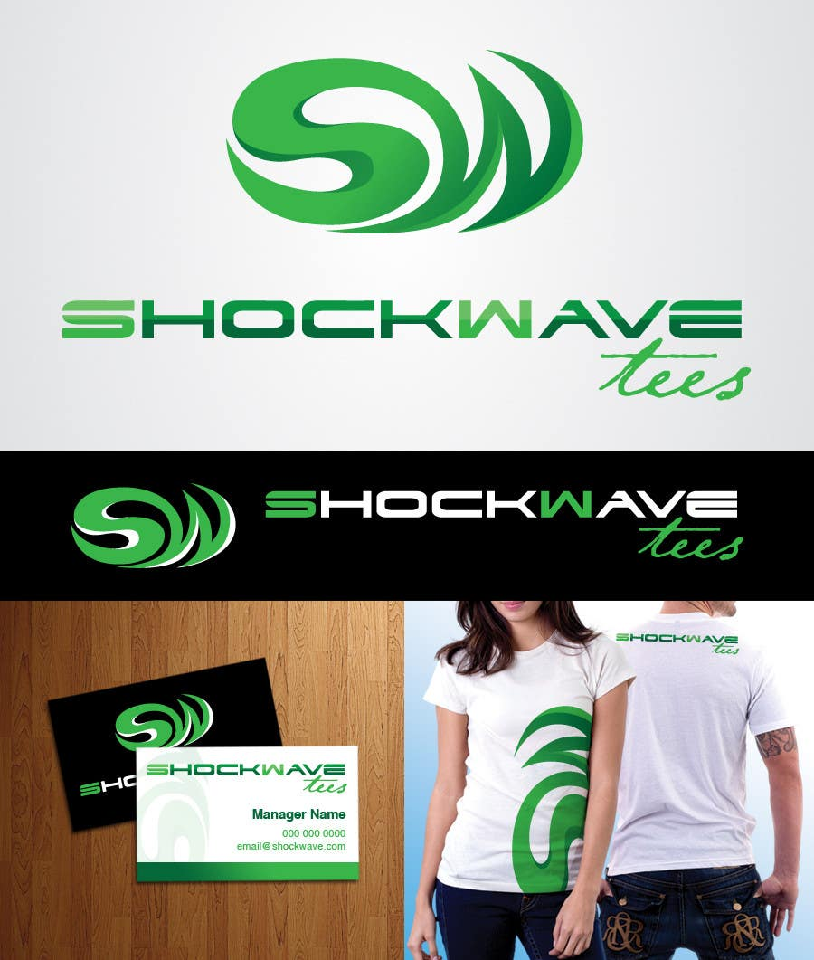 Inscrição nº 148 do Concurso para Logo Design for T-Shirt Company.  ShockWave Tees