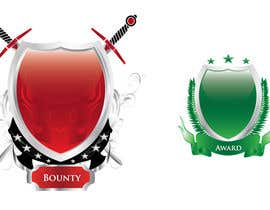 #156 untuk Two shield crests for use as a background to images/text oleh todeto