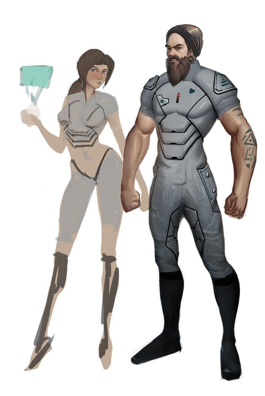 Entry 15 By Quyenmetal For Futuristic Humans Concept Art