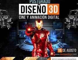#45 for Diseña un flyer para el posgrado en diseño 3d, cine y animación digital by corradoenlaweb