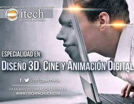 #15 for Diseña un flyer para el posgrado en diseño 3d, cine y animación digital by angeljesus15