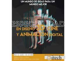 da03rico tarafından Diseña un flyer para el posgrado en diseño 3d, cine y animación digital için no 14