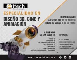 #46 for Diseña un flyer para el posgrado en diseño 3d, cine y animación digital by TeirysDulce