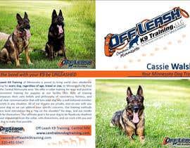 rumpalan tarafından Design a Brochure for Off Leash K9 Training, Central MN -- 2 için no 3