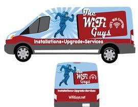 lucianoluci657 tarafından In need of a vintage van wrap design for a wifi service company için no 8