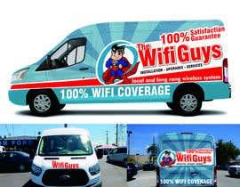 andreasaddyp tarafından In need of a vintage van wrap design for a wifi service company için no 7