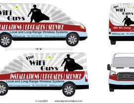 AmirKh1 tarafından In need of a vintage van wrap design for a wifi service company için no 4