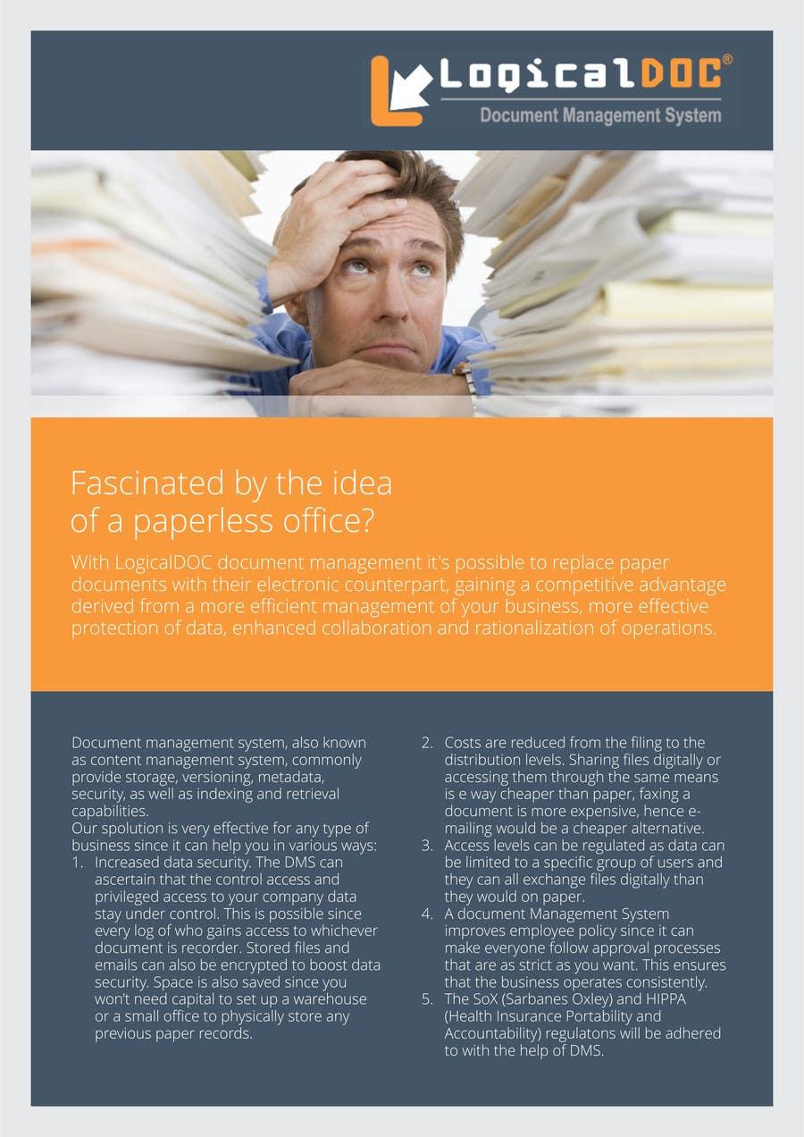 Konkurrenceindlæg #                                        6                                      for                                         A4 Brochure design for Marketing