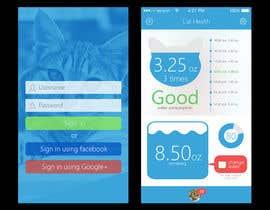 #11 untuk Design an App Mockup for pet health tracking app oleh MrHankey
