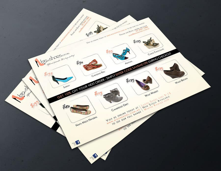 Inscrição nº                                         58                                      do Concurso para                                         Brochure Design for Big On Shoes- Online Shoe Retailer