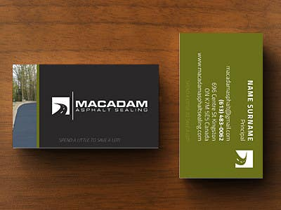 Entry 2 by viviele for design some business cards for macadam contest entry 2 for design some business cards for macadam asphalt sealing reheart Images