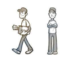 #9 para 2 vector cartoons of a young delivery boy por kekit