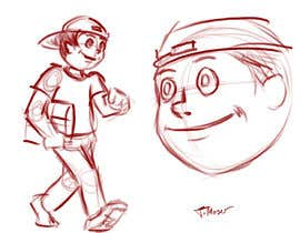 #2 para 2 vector cartoons of a young delivery boy por TMoser