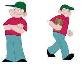#8 para 2 vector cartoons of a young delivery boy por TimSlater