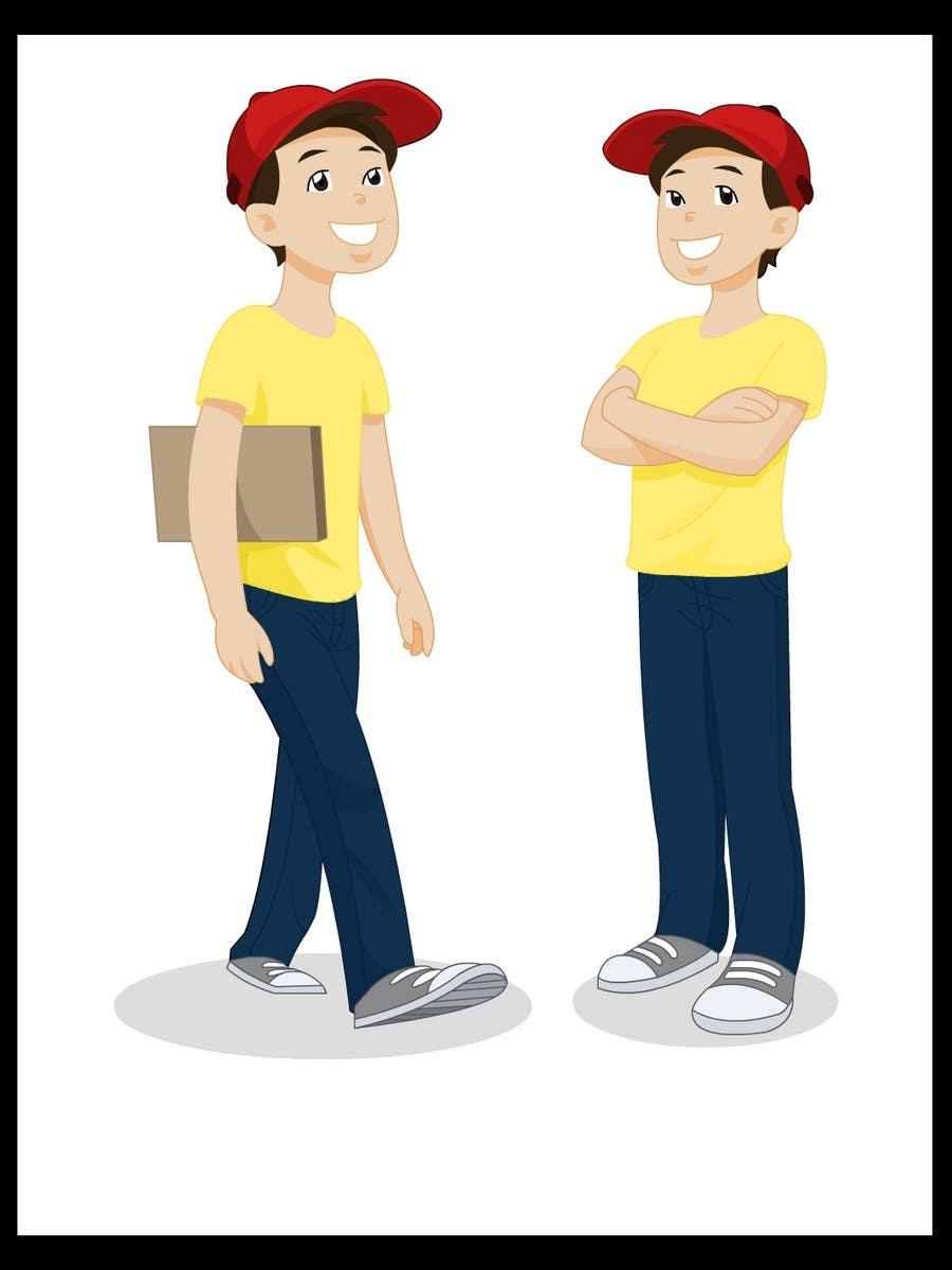 Конкурсная заявка №14 для 2 vector cartoons of a young delivery boy