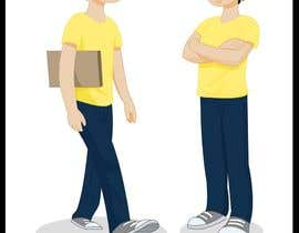 #14 para 2 vector cartoons of a young delivery boy por zoombiemode