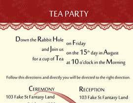 Nro 22 kilpailuun Tea Party Wedding Invitation Alice in Wonderland - Urgent käyttäjältä monielica