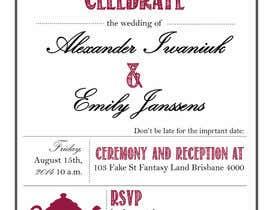 Nro 3 kilpailuun Tea Party Wedding Invitation Alice in Wonderland - Urgent käyttäjältä kc11
