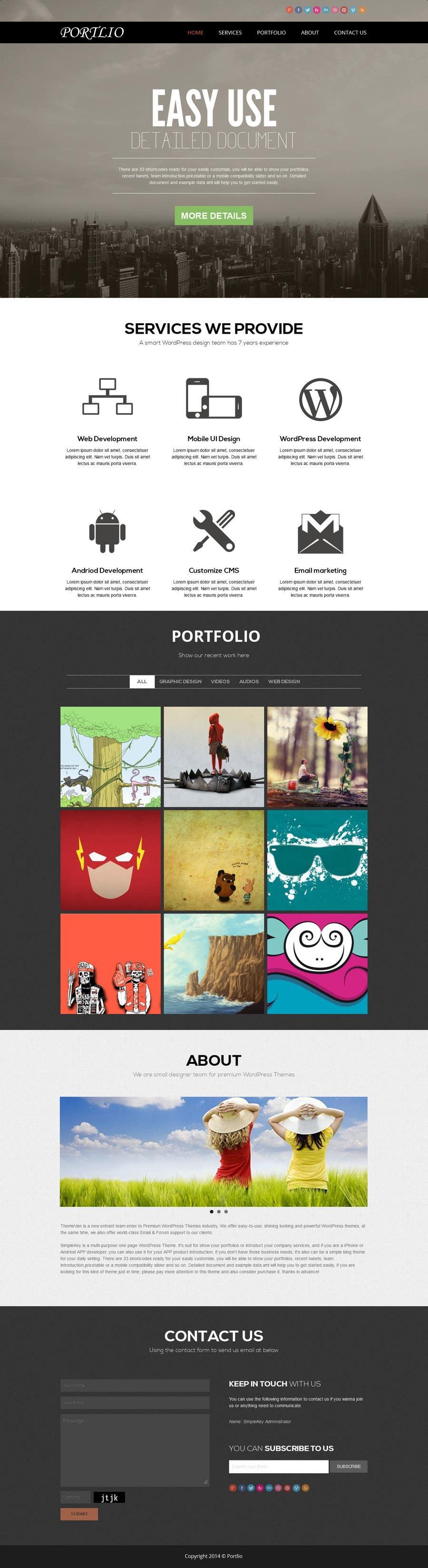 #28 for Design a Website Mockup for Portfolio by creativedesign06