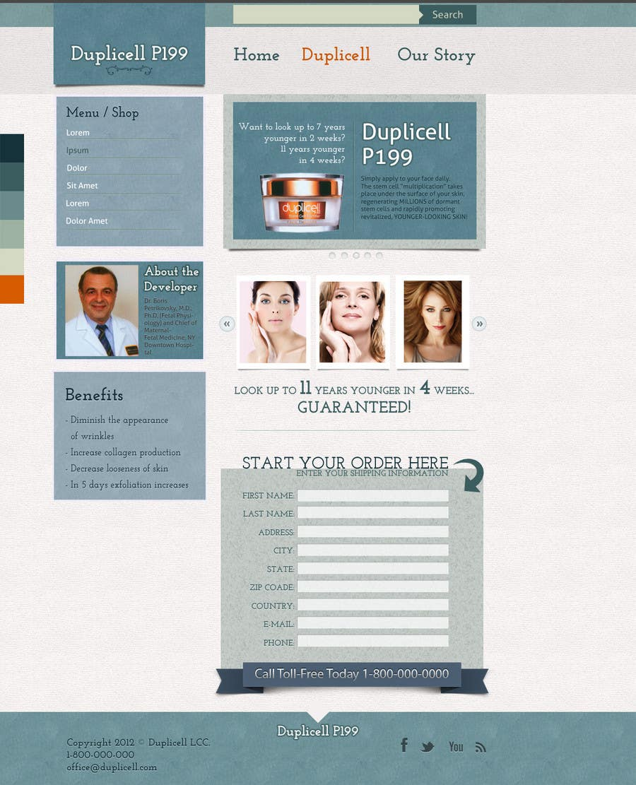 #20 for Website Design for Duplicell LLC by legycsapoeu