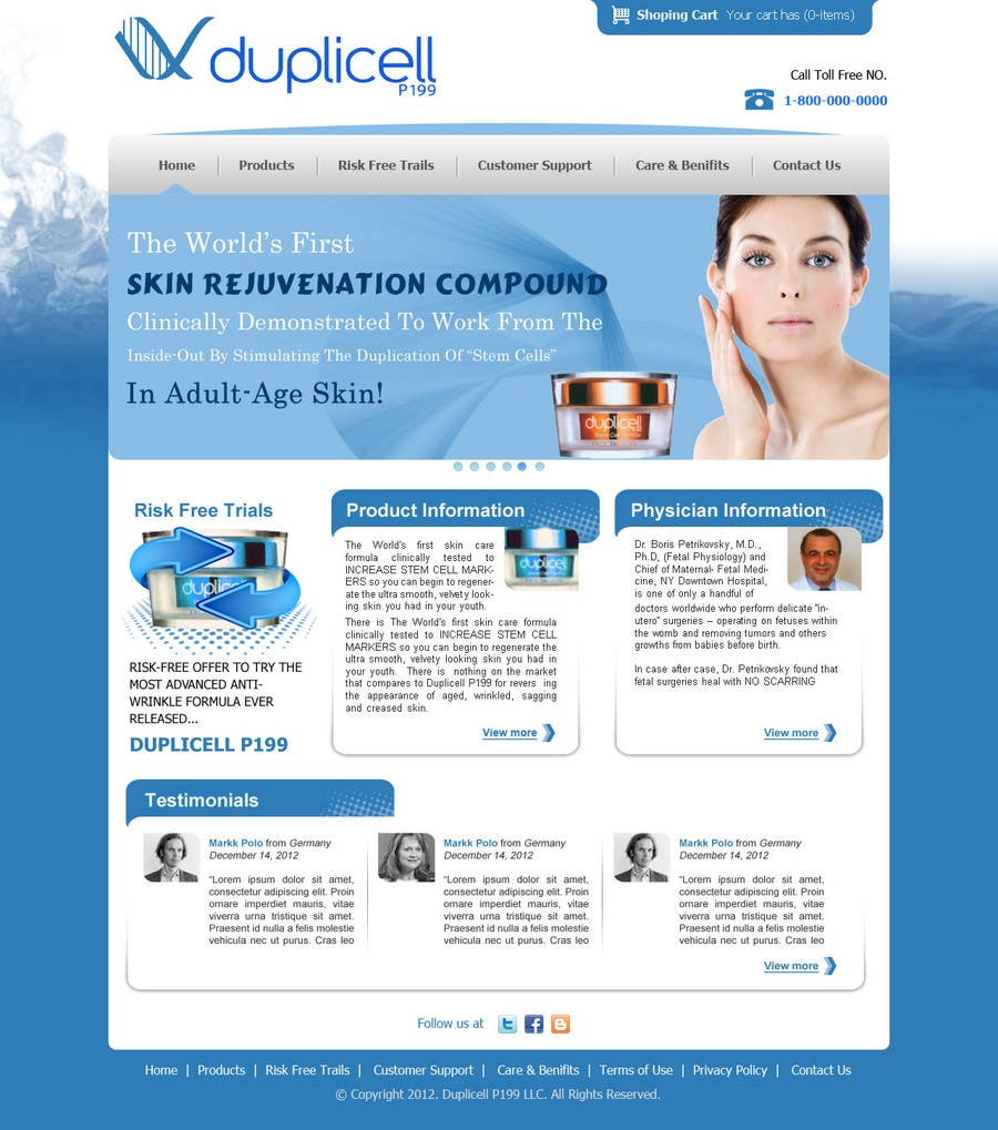 #14 for Website Design for Duplicell LLC by techwise
