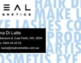 #13 para Business Card Design for Real Cosmetics por alekrjk