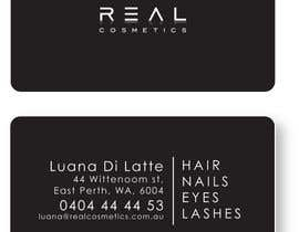 frazerlancer tarafından Business Card Design for Real Cosmetics için no 2