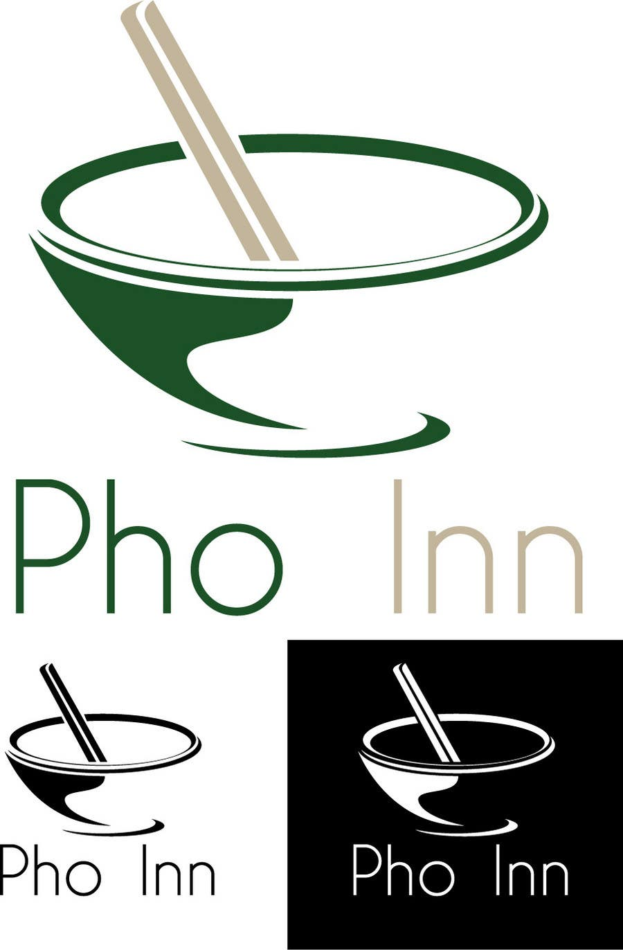 "Inscrição nº 67 do Concurso para Logo (for website, restaraunt front and uniforms) and Menu Design for ""PhoInn"""