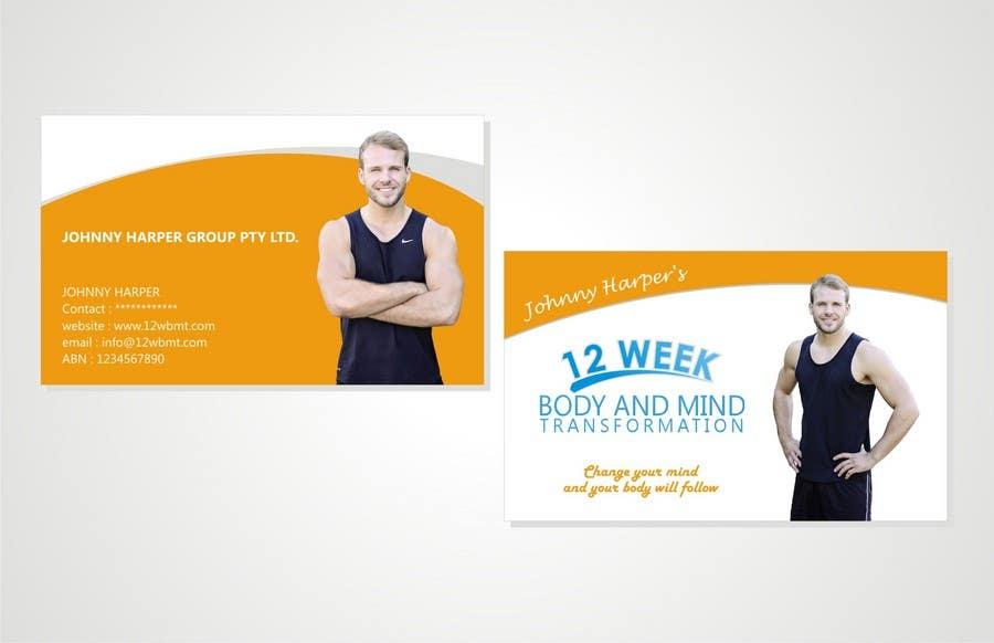 Inscrição nº 15 do Concurso para Business Card Design for Johnny Harper's 12 Week Body & Mind Transformation