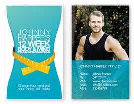 #4 for Business Card Design for Johnny Harper's 12 Week Body & Mind Transformation by iamwiggles