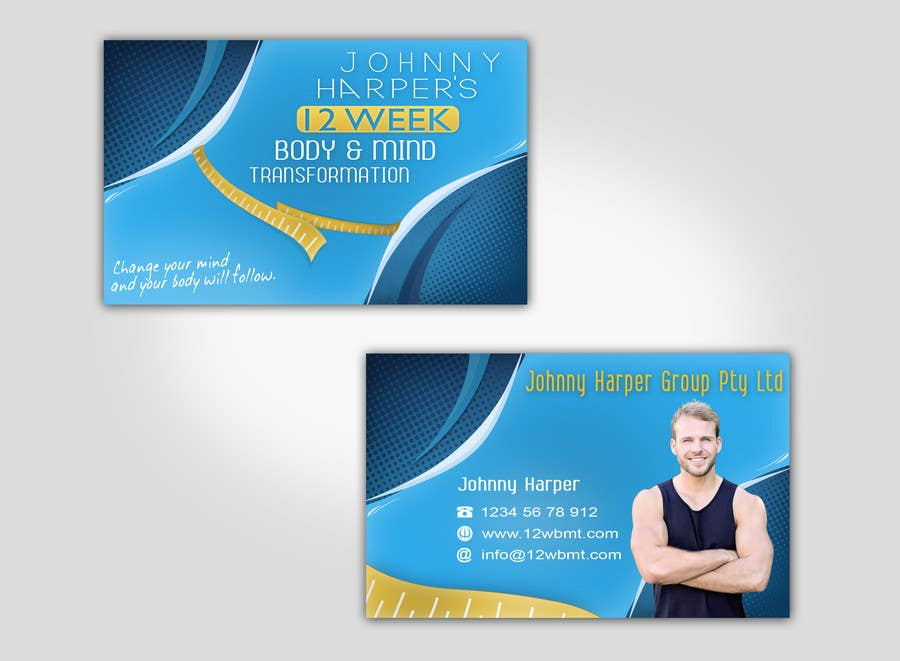 Contest Entry #                                        32                                      for                                         Business Card Design for Johnny Harper's 12 Week Body & Mind Transformation