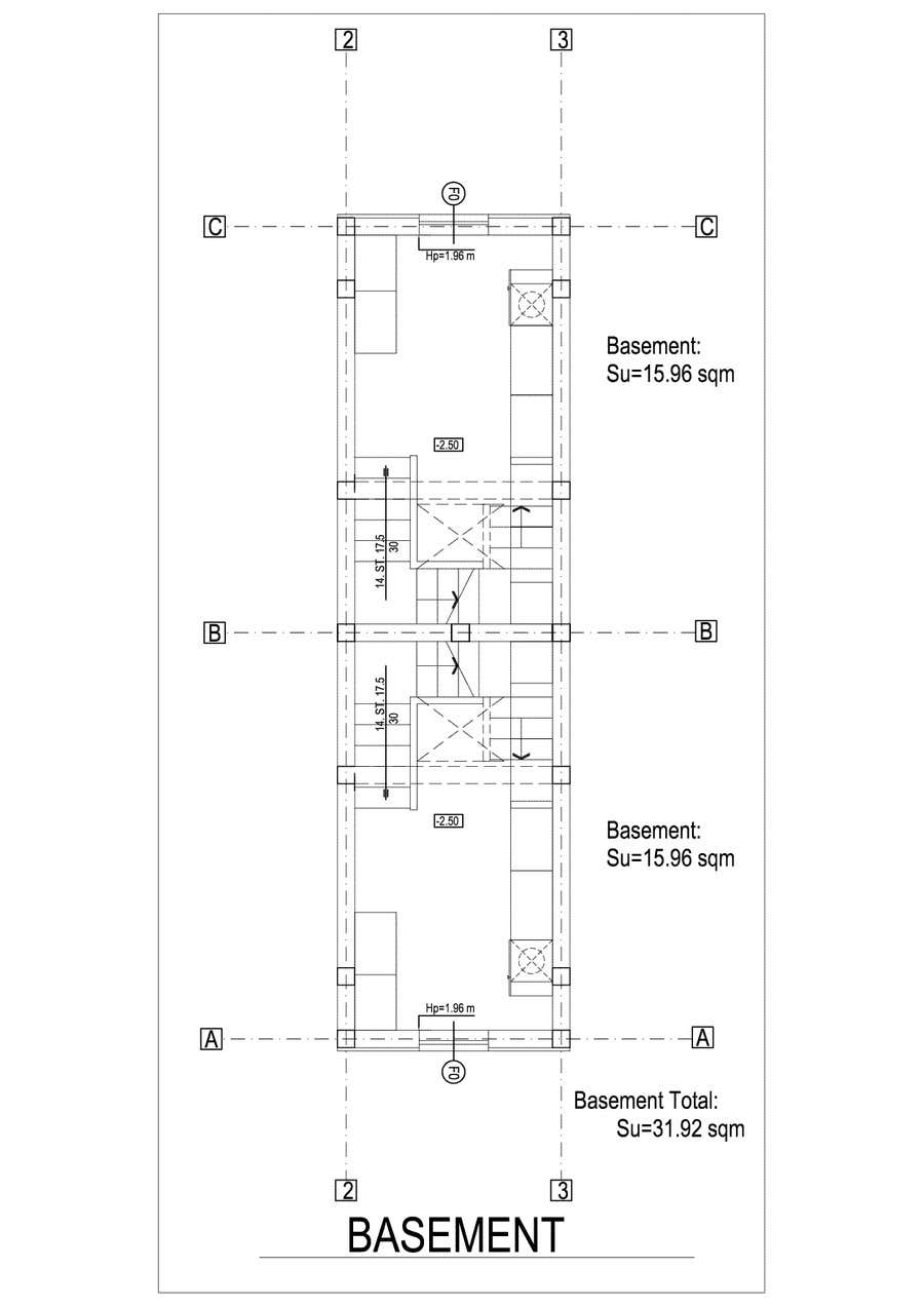#24 for Provide a floor plan for a duplex by Sebi71
