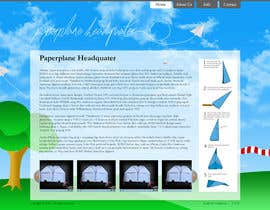 #15 for Design a Wordpress-Template for a paperplane website af kitty100