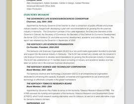 #7 for Graphic Design for Curriculum Vitae af Youg