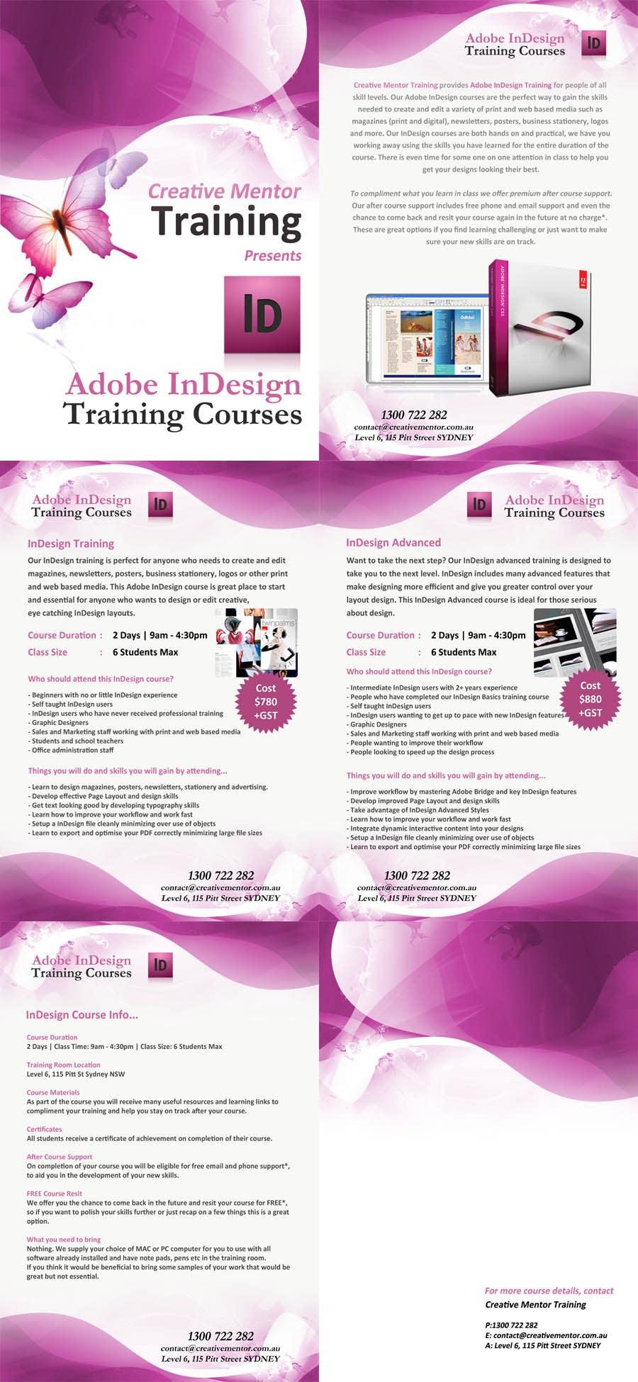 Inscrição nº 14 do Concurso para Brochure Design for Creative Mentor Training