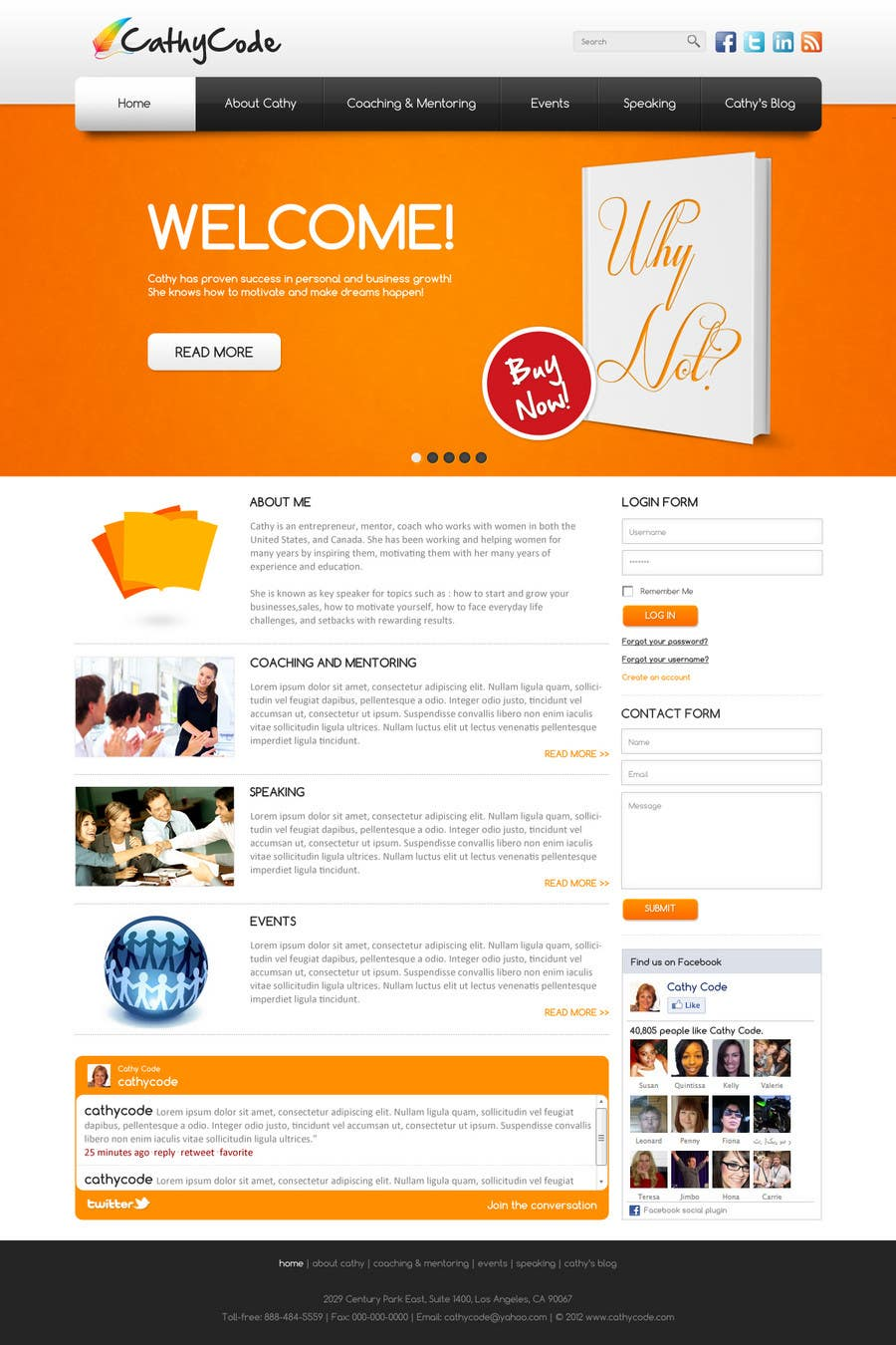 Top Entries Website Design For Cathy Code Freelancer - Photo contest website template