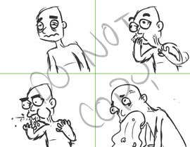nº 15 pour Small cartoonish and funny animation of a person in different stages of throwing up par meduzo