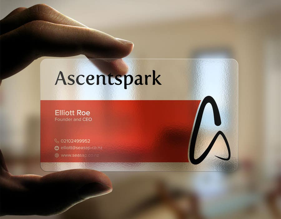 Entry #57 by mnrskp for Design a cool transparent business card ...