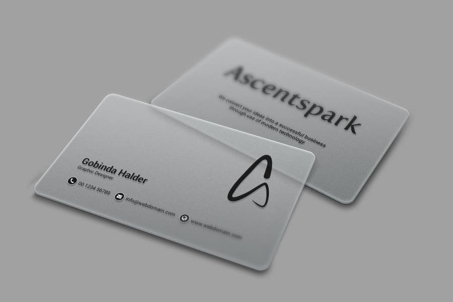 Entry #5 by smartghart for Design a cool transparent business card ...