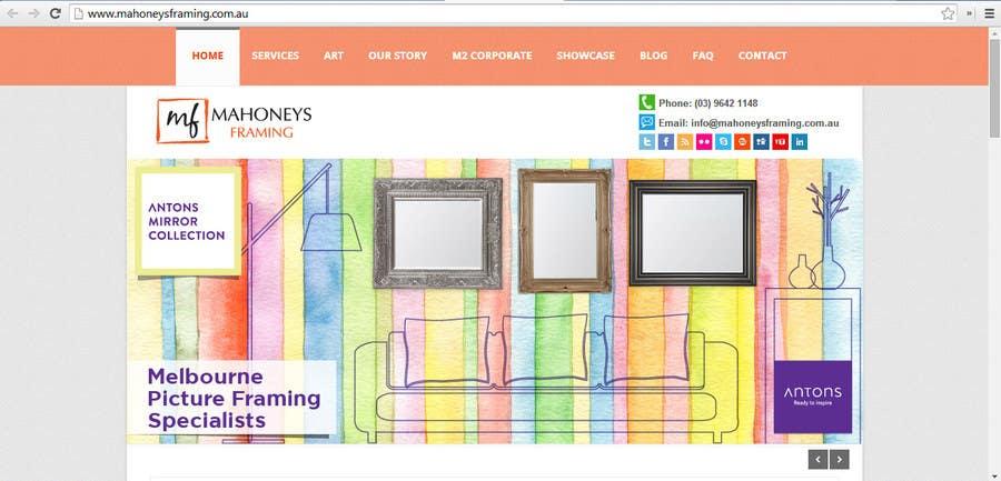 Inscrição nº                                         4                                      do Concurso para                                         Design a Banner for Custom Framing business