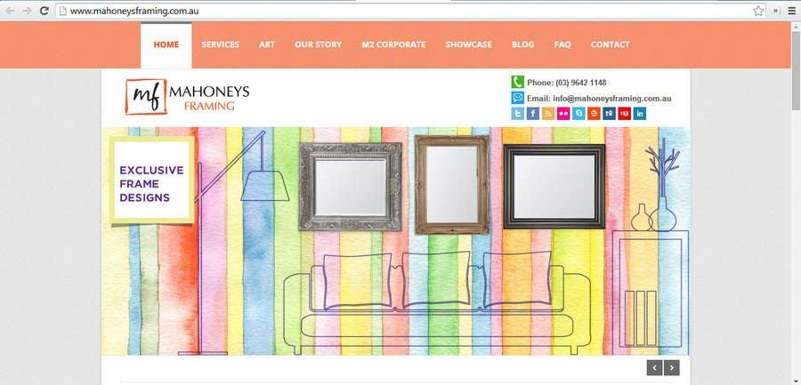 Inscrição nº                                         6                                      do Concurso para                                         Design a Banner for Custom Framing business