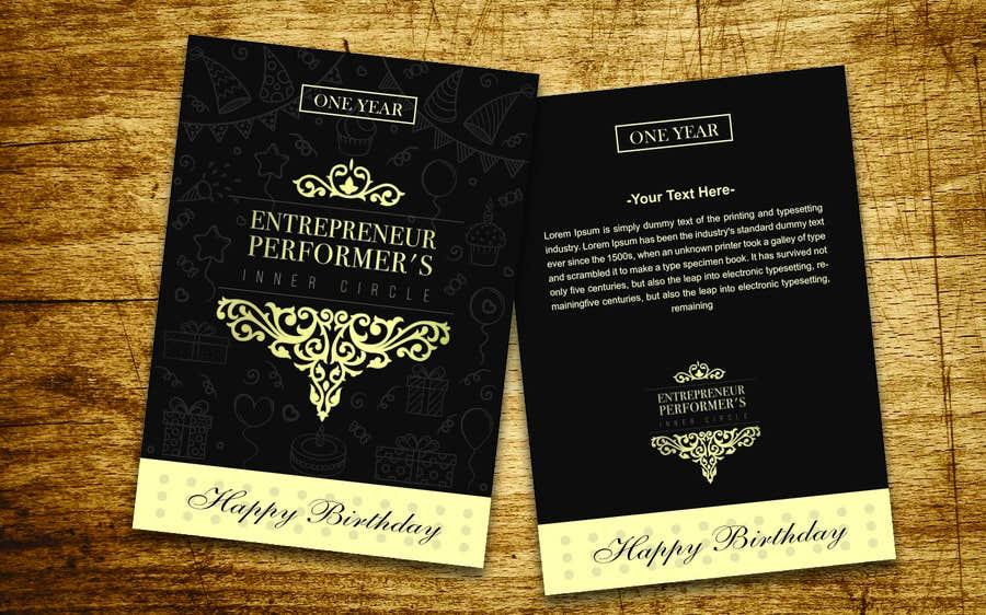 Entry 52 By Qdoer For Company Birthday Card Design Freelancer